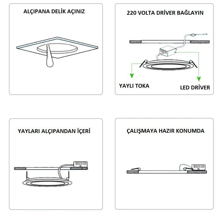 panel led alçıpana nasıl bağlantı yapılır